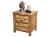 Log 2 Drawer Night Stand-Rustic Pine-FS