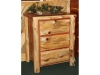 Log 3 Drawer Night Stand-Cedar-FS