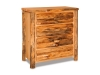 Log 4 Drawer Chest-Rustic Pine-FS