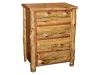 Log 4 Drawer Chest-Red Cedar-FS