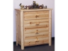Log 4 Drawer Chest-Palin Pine-FS