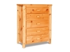Log 5 Drawer Chest-Plain Pine-FS