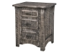 6678-Rough Cut Maplewood Nightstand: Gray-HH
