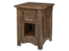 6680- Rough Cut Maplewood Nightstand-HH