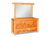 Log 6 Drawer Dresser w/Mirror-Pine-FS