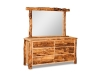 Log 6 Drawer Dresser w/Mirror-Aspen-FS