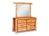 Log 6 Drawer Dresser w/Mirror-Red Cedar-FS