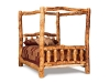 Log Canopy Bed-Queen Bed-Aspen-FS