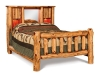 Log Bookcase Bed-Queen-Red Cedar-FS