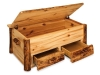 Log Hope Chest w/Drawers-Open-Aspen-FS
