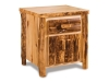 Log 1 Drawer 2 Door Nightstand-Aspen-FS
