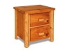 Log 2 Drawer Nightstand-Plain Pine-FS