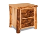 Log 2 Drawer Nightstand-Aspen-FS