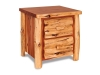 Log 2 Drawer Nightstand-Red Cedar-FS