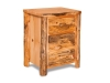 Log 3 Drawer Nightstand-Rustic Pine-FS