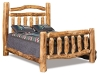 Log Bed - Queen Extra Rail Headboard Bed-Aspen-FS