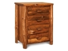 Log Small 4 Drawer Chest Rustic Pine-FS