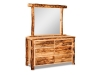 Log Small 6 Drawer Dresser w/Mirror-Aspen-FS