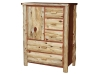 Log Side Door Armoire-Cedar-FS