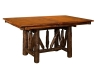 1240-Wagon Wheel Trestle Table-HH