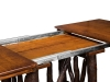 1241-Wagon Wheel Trestle Table: Leaves-HH