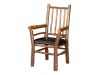1141-Diner Captain Chair- Leather-HH