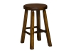 "1270-Shaved Bar Stool 24"" High-HH"