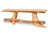 Fireside Flat Stump Bench with Footrest: Aspen-FS