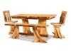 Fireside Room Setting: Double Stump Table-FS