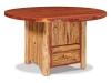 "54"" Round Table w/Cabinet-Red Cedar-FS"