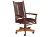 1114-Grandpa Desk Chair with Fabric Back & Seat-HH