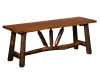 1322-Wagon Wheel Bench-HH