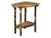1427W-Wedge Shaped Bearwood End Table-HH