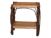 1403-End Table with Slatted Shelves-HH