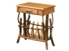 1407-End Table-Magazine Rack-w/Drawer-HH