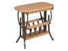 1408-Oval End Table-Magazine Rack-HH