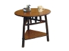 1410-Round End Table with Triangle Shelf-HH