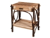 1422-Checkerboard End Table with Drawer-HH