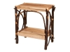1462-End Table-Solid Tops & Slatted Shelves-HH