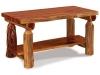 Log Coffee Table w/Shelf-Red Cedar-FS
