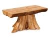 Log: Stump Half Log Coffee Table-Aspen-FS