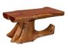 Log: Stump Half Log Coffee Table-Red Cedar-FS