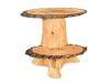 Log End Table: 2 Slab Stump-FS