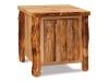 Log End Table w/Door-Aspen-FS