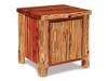 Log End Table w/Door-Red Cedar-FS