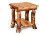Log End Table w/Shelf-Aspen-FS