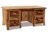 Log Desk Double Pedestal Desk-Aspen-FS