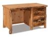 Log Single Pedestal Desk-Rustic Pine-FS