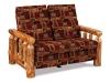 Log Reclining Love Seat-Aspen-FS
