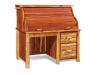 Log Rolltop Desk: Single Pedestal-Red Cedar-FS